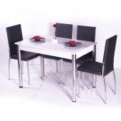 Gökkuşağı Mutfak Masası Yemek Takımı Masa Takımı Sandalye 10 Renk-8