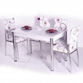 Gökkuşağı Mutfak Masası Yemek Takımı Masa Takımı Sandalye 10 Renk-9