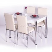 Gökkuşağı Mutfak Masası Yemek Takımı Masa Takımı Sandalye 10 Renk-10