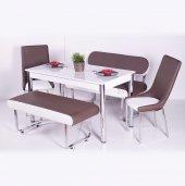 Mutfak Bank Takımı Yemek Masası Seti 2 Sandalye...