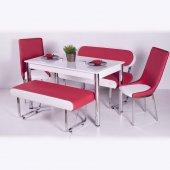 Banklı Masa Takımı Mutfak Yemek Masası 10 Renk Seç...