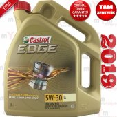 Castrol Edge Ll 5w 30 5litre Tam Sentetik Motor...