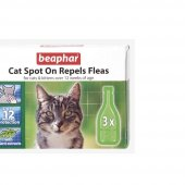 Beaphar Cat Spot On Repels Fleas Kedi Pire...
