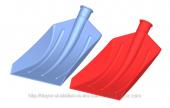 Duyar Profesyonel Plastik Kar Küreği 54x31cm Kırmızı Metal Uçlu