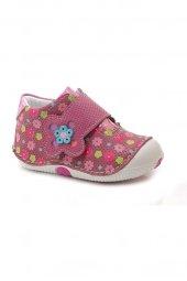 Kids World Ortopedik Koyu Pembe Çiçekli Kız Çocuk Ayakkabı-2