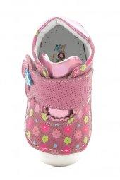 Kids World Ortopedik Koyu Pembe Çiçekli Kız Çocuk Ayakkabı-3