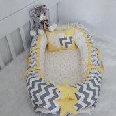 Babynest Gri Zigzag Sarı Kombin