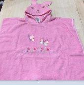 özdilek Rabbit Nakışlı Panço Kız Bornoz Pembe 1...