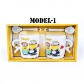 Çılgın Hırsız Minions Çift Porselen Kupa Seti (2 Adet)