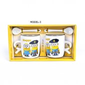 Çılgın Hırsız Minions Çift Porselen Kupa Seti (2 Adet)-3