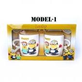 Çılgın Hırsız Minions Çift Porselen Kupa Seti (2 Adet)-5