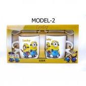 Çılgın Hırsız Minions Çift Porselen Kupa Seti (2 Adet)-6