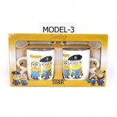 Çılgın Hırsız Minions Çift Porselen Kupa Seti (2 Adet)-7