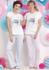 Aqua 17708 Bayan Kısa Kollu Pijama Takımı