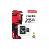 Kingston 64gb Micro Sd Hafıza Kartı C10 80mb S...