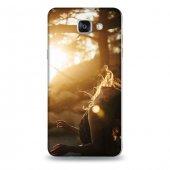 Samsung A9 Kılıf Güneş Kadın Desenli Kılıf