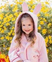 Özdilek Pinky Girl Kız Çocuk Free Bornoz Seti Pembe 5-6 Yaş -2