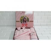 Özdilek Pinky Girl Kız Çocuk Free Bornoz Seti Pembe 5-6 Yaş -3