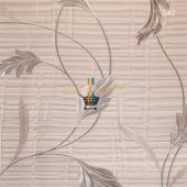 Excellence Dalgalı Yapraklı Desenli Duvar Kağıdı
