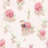 Fashıon Yaprak Çiçek Desenli Duvar Kağıdı
