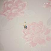 Prestigeline Pembe Renkli Çiçek Doku Desenli Duvar Kağıdı