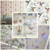 30 Çeşit İthal Çiçek Desenli Duvar Kağıdı Türkiyede Sadece Bizde