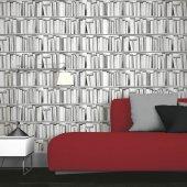 Ucuz&kaliteli 3d Beyaz Kitaplık Duvar Kağıdı