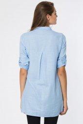 Arkası Pileli Cepli Tunik Gömlek-4