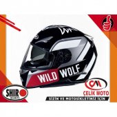 SHIRO FULLFACE HELMET SH-715 WILD WOLF #SHR836.10/L