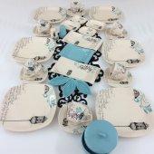 Keramika Retro Turkuaz 6 Kişilik Kahvaltı Takımı