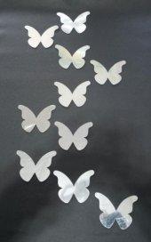Kelebekler 1 Mm Dekoratif Ayna Sticker 10 Adet...