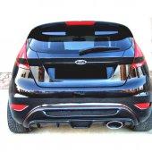 Ford Fiesta 2009 - 2016 Izgaralı Arka Tampon Eki - Difüzör (Plast