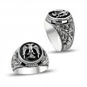 Çift Başlı Kartal Motifli Erzurum El İşi Gümüş Yüzük