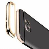 FitCase Samsung S7 EDGE Golden Frame Arka Kapak Siyah-2