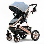 Norfolk Baby Voyage Comfort Air Luxury Çift Yönlü Bebek Arabası - Gri
