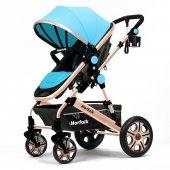 Norfolk Baby Voyage Comfort Air Luxury Çift Yönlü Bebek Arabası - Mavi
