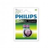 Philips R03B2RTU8/10 2li Şarjlı RTU İnce Pil