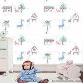 çocuk Manzara Resimli Duvar Kağıdı Zdk7450