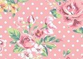 Cushion Design 4lü Flower Pink Amerikan Servis