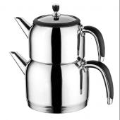 Emsan Halley Paslanmaz Çelik Çaydanlık Siyah