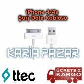 Ttec İphone 4 4s Şarj Kablosu Data Kablo