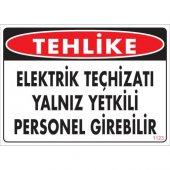 Pvc Levha Tehlike Elektrik Teçhizatı Yalnız...