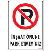 Pvc İş Güvenliği Levhası İnşaat Önüne Park...