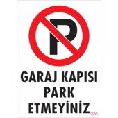 Pvc İş Güvenliği Levhası Garaj Kapısı Park...
