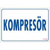 Pvc iş güvenliği levhası - kompresör