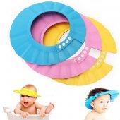 Ayarlanabilir Bebek Banyo Şapkası Pembe