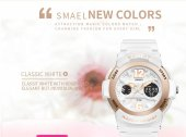Smael Bayan Kol Saati Beyaz Model Su Geçirmez Özel Tasarım-4