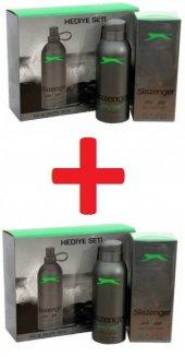 Slazenger Active Sport Yeşil Erkek Parfüm Seti 2 Kutu
