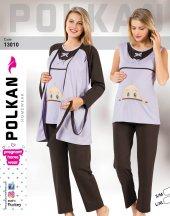 Polkan 13010 Lohusa 3lü Pijamatakım