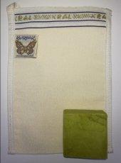 Kelebek Kral Banyo Hamam Kesesi Beyaz + Yeşil...